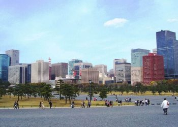 Tokyo skyline, Ginza