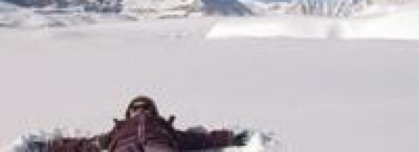 All the ski gear, but snow idea?