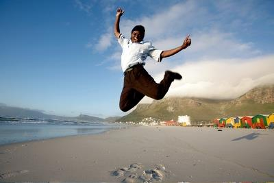 Jumping for joy in Cape Town