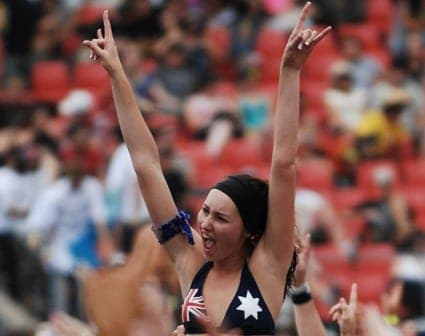 Australian at music festivals