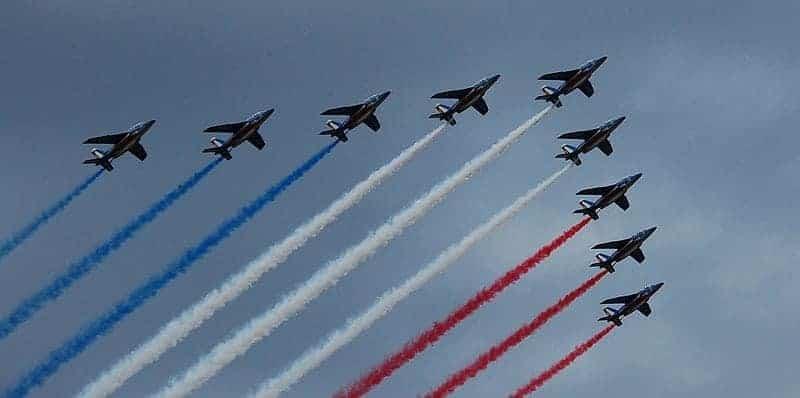 Bastille Day Flyover