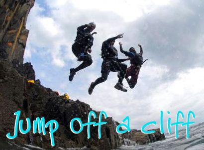 Wales - jump off a cliff
