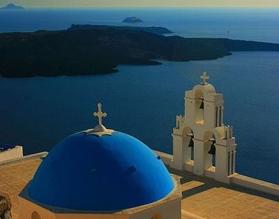 Agios Theodori church at Firostefani, Santorini, Greece