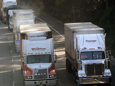 Trucks protest