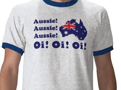 Sometimes, there's just no hiding my Aussieness
