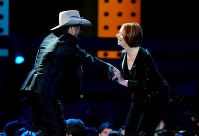 ARIA_Awards_Julia_Gillard_Molly_Meldrum