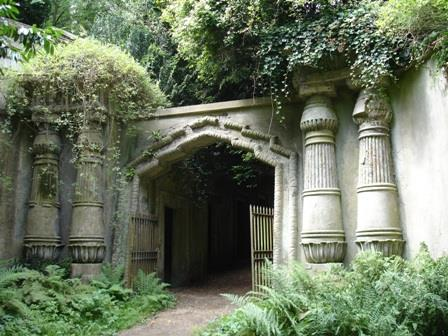 The Egyptian Avenue at London's Highgate Cemetery