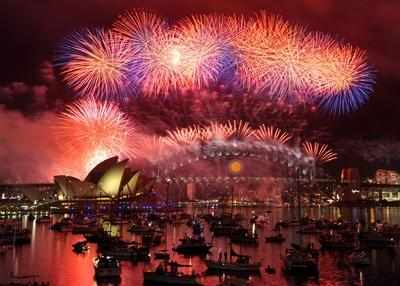 Sydney New Year's Eve fireworks photos