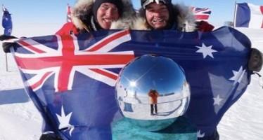 Australian pair reach South Pole on foot