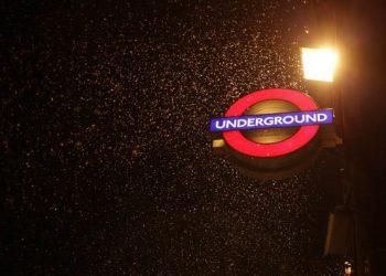 Rain London Underground