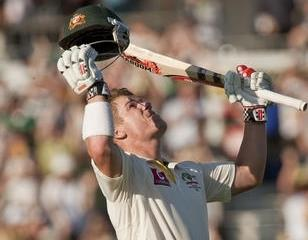 David Warner scores 100 at the WACA
