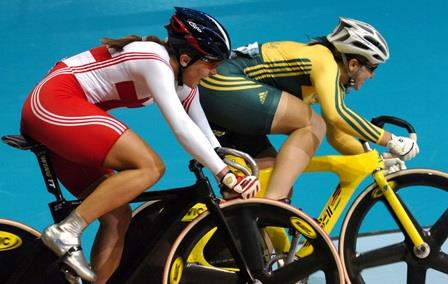 Australia's Anna Meares takes on GB's Victoria Pendleton
