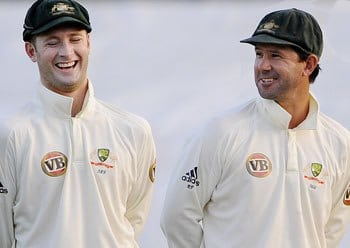 Michael Clarke & Ricky Ponting