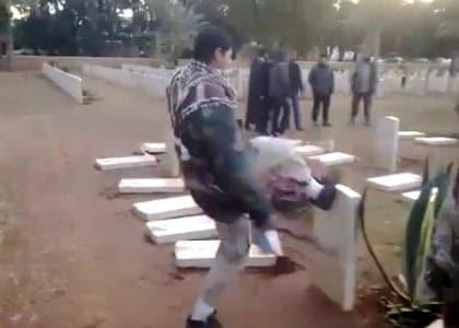 Libya war graves attacked