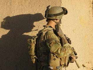 Digger in Afghanistan