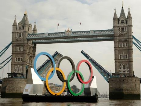 Olympic barge in London