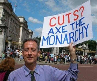 Peter Tatchell, part of the UK group Republic