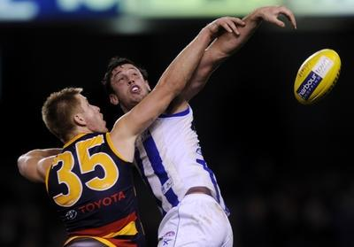 Crows vs Roos - aerial ballet?