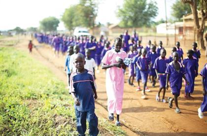 South Sudanese children