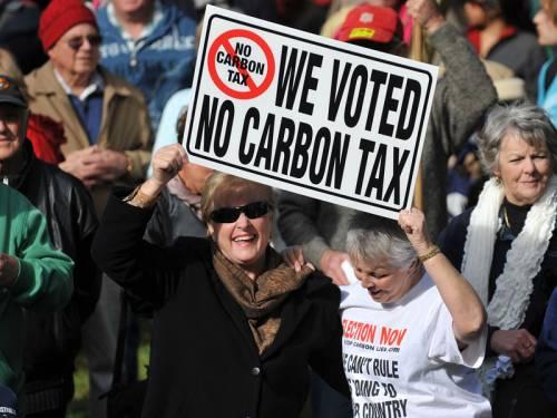 Carbon tax rally, Sydney