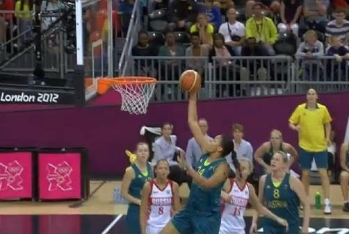 Liz Cambage Olympic dunk