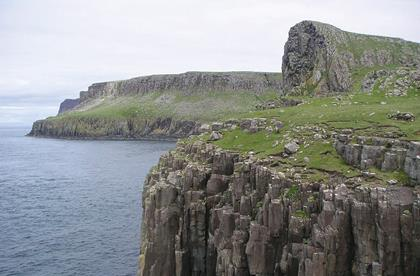 Scotland Skye cliffs