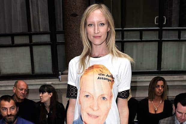 Vivienne Westwood makes Assange 'statement' at London Fashion Show