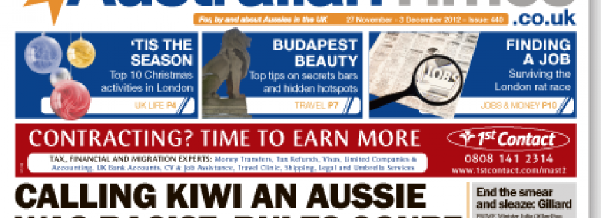 Australian Times weekly newspaper | 27 November 2012