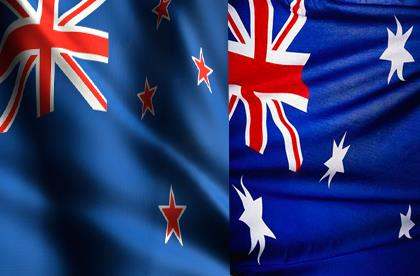 Australian and NZ flags
