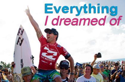 Joel Parkinson surfing world champion