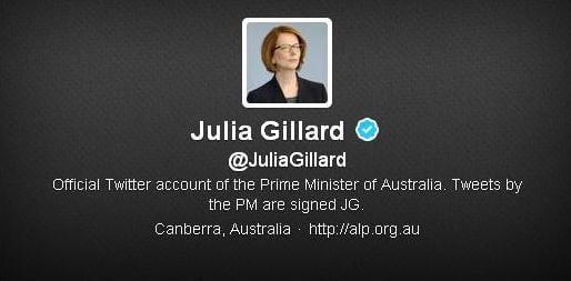 gillard twitter account