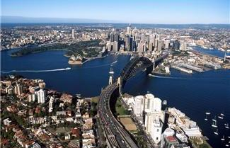 Aeriel view of Sydney Harbour