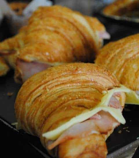 Ham & Cheese croissant Taylor St baristas