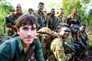 Simon-Reeve-with-members-of-Norforce-on-the-remote-Cox-Peninsula-Northern-Territory-Australia.