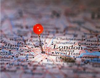 pin in London street map
