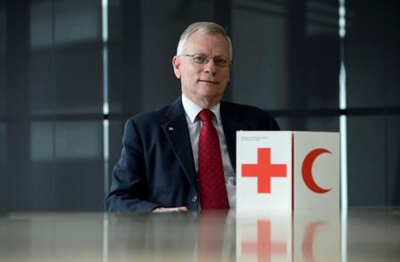 Chairman of the Red Cross International Standing Commission, Gregory John Vickery, has been appointed an Officer of the Order of Australia (AO) in the 2013 Queen's Birthday Honours List (AAP Image/Dan Peled)