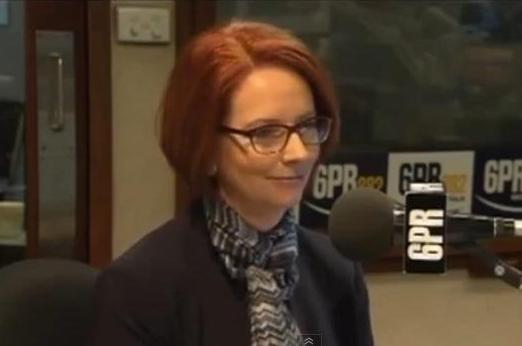 Gillard on Perth radio