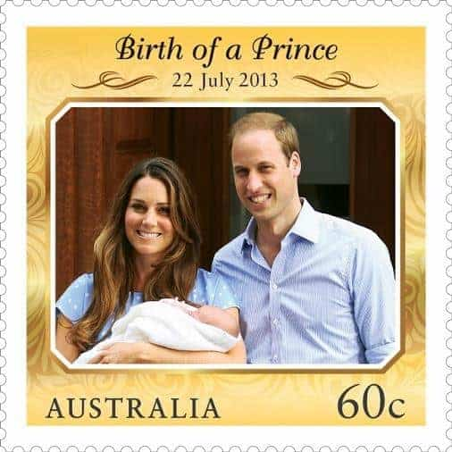 60c Royal_Baby Prince George stamp_Australia-Post-2013