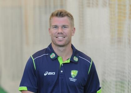 Australian Cricketer David Warner arrives to speak to the media at the indoor nets at the Sydney Cricket Ground, Sydney, Thursday, May 23, 2013. Warner has been fined almost $6000 by Cricket Australia after a twitter outburst at journalists Robert Craddock and Malcolm Conn. (AAP Image/Dean Lewins) NO ARCHIVING