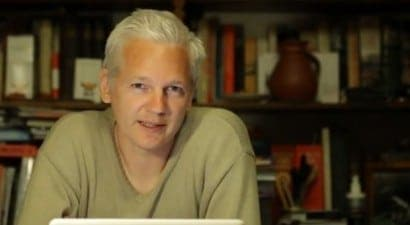 Julian Assange addresses Splendour in the Grass 2011