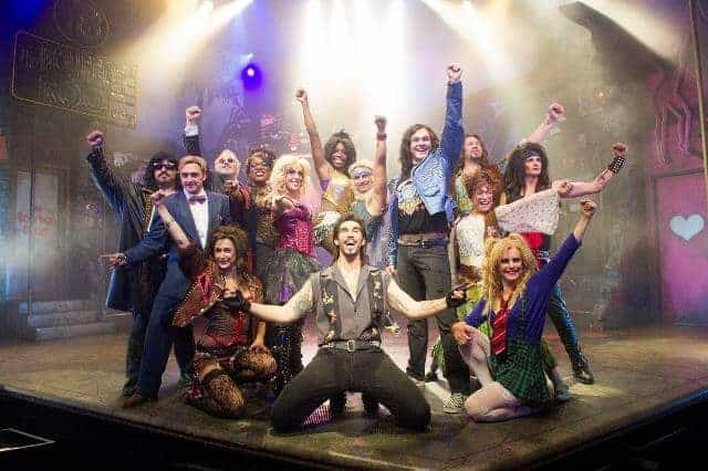 A scene from Rock Of Ages recast @ Shaftesbury Theatre.(Opening 25-09-12)©Tristram Kenton 09/12(3 Raveley Street, LONDON NW5 2HX TEL 0207 267 5550 Mob 07973 617 355)email: tristram@tristramkenton.com
