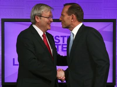 Rudd and Abbott Australian election debate 2013