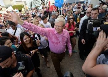 Kevin Rudd rules out minority government