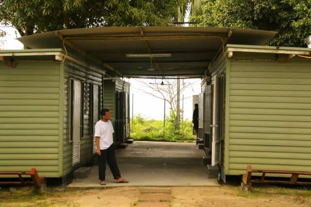 Supplied image of an asylum seeker arriving on Manus Island, Papua New Guinea, Thursday, Aug. 1, 2013. The 40 man group are the first transfer to Manus Island from Christmas Island under the Labor's Regional Settlement Arrangement which was agreed on July
