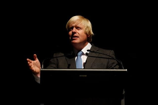 London Mayor Boris Johnson speaks at the opening of the 2013 Melbourne Writers Festival, Melbourne Town Hall, Thursday, Aug. 22, 2013. (AAP Image/Paul Jeffers) NO ARCHIVING