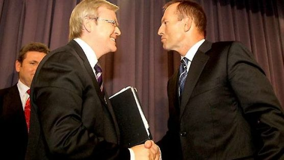 Rudd brings Big Brother housemates to tears while Abbott ...