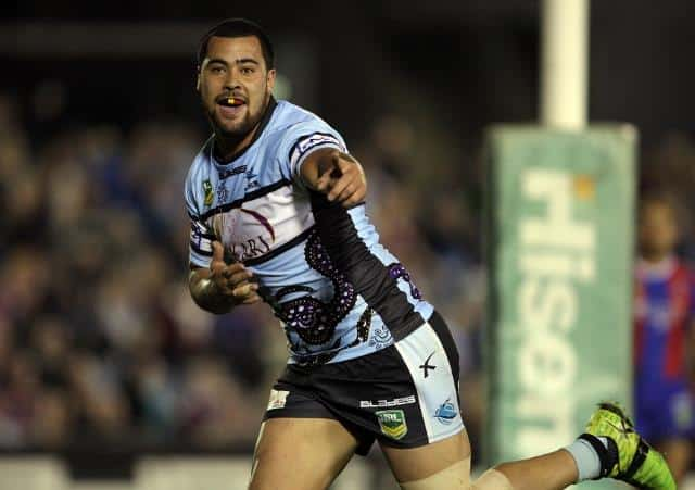 Andrew Fifita of the Cronulla Sharks (AAP Image/Action Photographics, Robb Cox)
