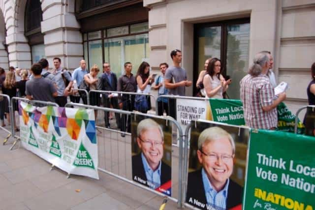 Voting in Australian federal election 2013 Australia House