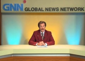 Ron burgandy Australian federal election message