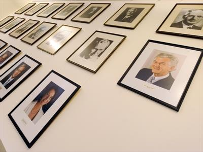 Labor leadership photo wall